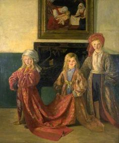 The Princess Badroulbadour, William Rothenstein (1872 – 1945, English), I AM A CHILD, children in art history