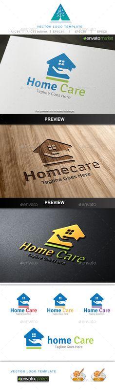 Home Care Logo Template #design #logotype Download: http://graphicriver.net/item/home-care-logo/10748429?ref=ksioks