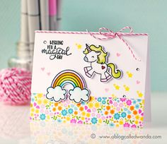 Wishing you a magical day! Who doesn't love unicorns and rainbows!?