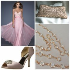Gorgeous bridesmaids style with soft pink dress