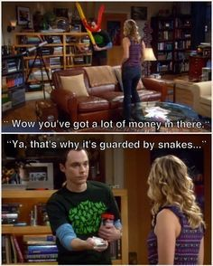 "His way of protecting money. | Community Post: 56 Quirks Of Sheldon From ""The Big Bang Theory"" That Make Him One-Of-A-Kind"