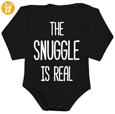 The Snuggle Is Real Baby Romper Long Sleeve Bodysuit Large - Baby bodys baby einteiler baby stampler (*Partner-Link)