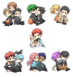 Kuroko no Basuke Kuroko no basket / Kiseki no Sedai Kawaii Anime, Kawaii Cute, Anime Chibi, Manga Anime, Otaku Anime, Kuroko No Basket, Aomine Kuroko, Kagami Taiga, Kuroko Chibi