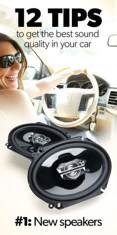 Tips: A car can be a great place to enjoy music, but many commuters still put up with marginal sound quality that they'd never tolerate at home. Vw Bus, Mercedez Benz, Car Sounds, Car Hacks, Diy Car, Truck Accessories, Phone Accessories, Car Cleaning, Cleaning Hacks
