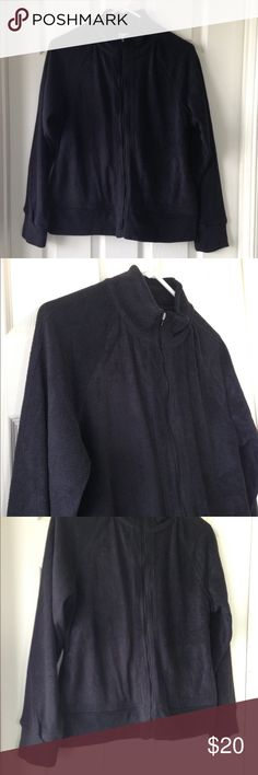 """Black Jacket Like brand new - never worn. No stains or holes. Black colors. Pockets. Front zipper closure. Super soft and lightweight. Cozy. 100% polyester. Measurement laying flat: bust: 20"""" length: 25"""" Everlast Jackets & Coats"""