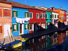 """#ridecolorfully ...to Burano, Italy - """"the most colorful city in Europe"""""""