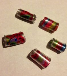 Plastic bottle beads