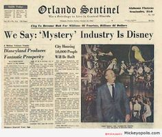 "Orlando Sentinel's ""we've figured out it's Disney"" edition!"