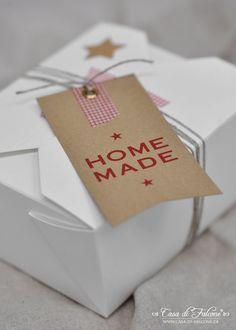 "Brownies ""to go"" I Verpackungsidee I food packaging I Geschenke aus der Küche I homemade gift I masking tape I papieranhänger I gifttag I Casa di Falcone"