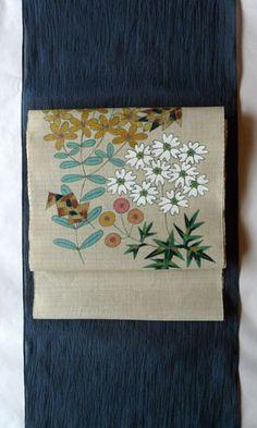 silk cotton / kimono /  竺仙