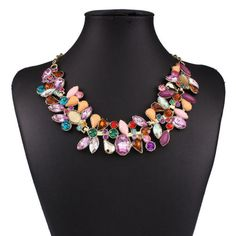Vintage-Women-Crystal-Charms-Chunky-Statement-Bib-Chain-Choker-Elegant-Necklace