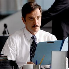 Tim Dekay as Peter Burke from the TV show White Collar. The mustache makes me laugh. =)