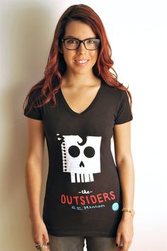 Amazing tee of The Outsiders, from Out of Print, $28. With every shirt sold, they donate to literacy programs in Africa.