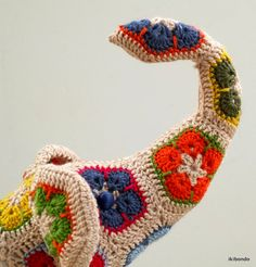 African flower crochet elephant stuffed toy by ikibondo on Etsy