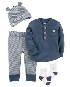 William Baby Boy 4-Piece Babysoft Take-Me-Home Set from Carters.com. Shop clothing & accessories from a trusted name in kids, toddlers, and baby clothes.