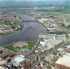 Areal view of Limerick city, Limerick couty, Munster