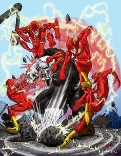 Flash vs Grundy by ArtistAbe on DeviantArt Dc Comics Superheroes, Fun Comics, Marvel Dc Comics, Comic Character, Character Design, Solomon Grundy, Flash Barry Allen, Flash Wallpaper, Ride The Lightning