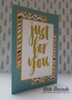 2016 Stampin' Up! Sale A Bration, Botanicals For You stamp set Wildflower Fields DSP, Kate Benade Stampin' Up! Demonstrator Melbourne Australia www.katebenade.com.au