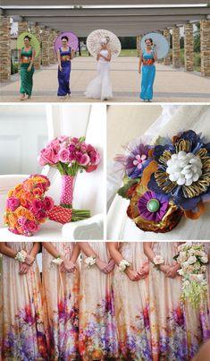 #mismatched bridesmaids dresses
