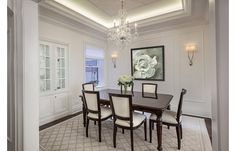 Gorgeous Dining Room Design with Chandelier Lighting