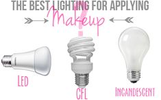 Want to know what the best lights are for makeup application?