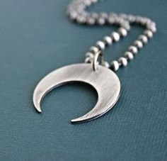 89 best mens silver necklaces images on pinterest mens crescent pendant silver chain necklace by lynntodddesigns aloadofball Images