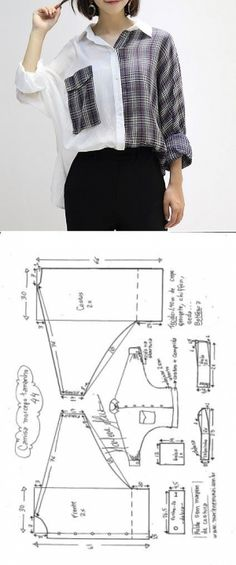 Blusa camisa manga morcego | DIY - molde, corte e costura - Marlene Mukai