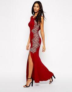 d0d706b499d1 Lipsy Fishtail Maxi Dress With Lace Sides Fishtail Maxi Dress, Asos Dress,  Lipsy,