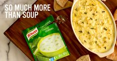 Artichoke and Leek Dip! More versatile than you might think, our Knorr dry soups go incognito in endless recipes. How does Knorr help you take your recipes to the next level? Your Recipe, Recipe Using, Other Recipes, My Recipes, Dry Soup Mix, Appetizer Dips, Fresh Vegetables, Artichoke, Finger Foods
