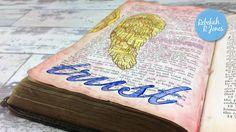 Twinkling and Pearlescent Watercolor - Bible Art Journaling Challenge Week 25 - Rebekah R Jones Bible Study Journal, Scripture Study, Bible Art, Old Testament Bible, Bibel Journal, Catholic Bible, Faith Bible, Study Ideas, Challenge Week