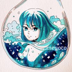 Ocean bubble (art tools: @pearlescentpink)