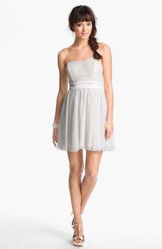 Trixxi Lace & Chiffon Party Dress