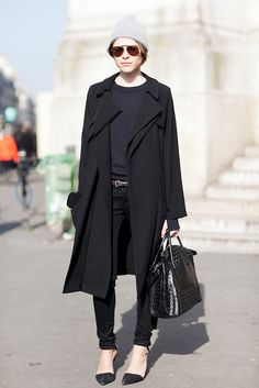 Emily Weiss gave us sophisticated-cum-cool in polished outerwear and street-chic add-ons. Source: Le 21ème | Adam Katz Sinding