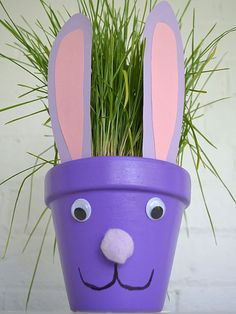 Fun, Easy (and Cheap!) Easter Crafts for Kids~ Flower Pot Bunny