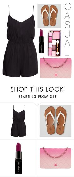 """Casual Sass"" by krosefashion18 on Polyvore featuring H&M, American Eagle Outfitters, Smashbox and Chanel"