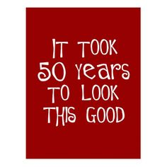 50th Birthday 50 Years To Look This Good Postcard Party Favors