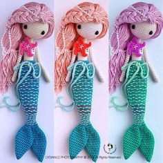Irresistible Crochet a Doll Ideas. Radiant Crochet a Doll Ideas. Amigurumi Patterns, Amigurumi Doll, Doll Patterns, Knitting Patterns, Crochet Patterns, Crochet Mermaid, Love Crochet, Knit Crochet, Knitted Dolls