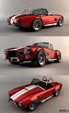 Ac Cobra 427. For the record, the body is from an AC Ace. Any engine aside from the 4 cylinder in the Ace was in fact a Shelby Cobra rather than AC Cobra.