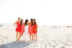 Shades of pink! hotel del coronado beach wedding