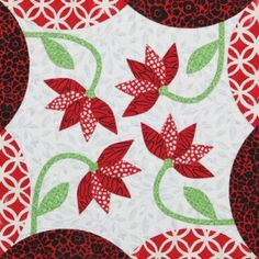 Dancing Dahlias by Nancy Mahoney for Quiltmaker's 100 Blocks Volume 8. Blog tour with prizes! http://www.quiltmaker.com/blogs/quiltypleasures/