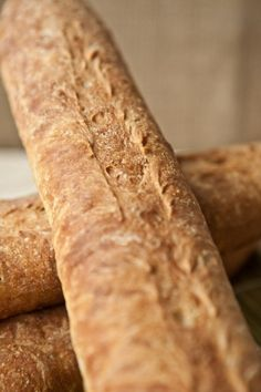 Baguettes at home and it makes 4 that you can bake fresh over several days. Love it.