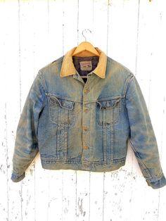 13ea14e2 60s Lee Storm Rider Blanket Lined Denim Trucker Jacket Union Made in USA  Vintage