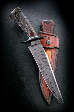 "Fighter 8.5"" Damascus Feather - Cas knives"