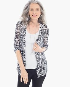 0033836e890 Chico s Graphic Side-Ruched Rita Cardigan. I own this piece. Love the light