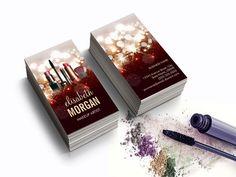Makeup Artist Cosmetologist Shiny Glitter Sparkle Business Card Templates