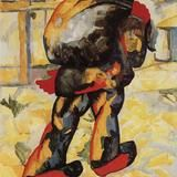 The man with the bag by Kazimir Malevich
