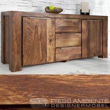 Monumentales Sideboard GIANT aus Sheesham 180cm Kommode Massiv Holz