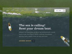 Good Sailors Boat Rental Company Website - Uplabs