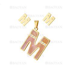 bb3625eaa667 dije y aretes de letra M con piedra de dorado-SSSTG054083
