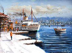 Kış Güneşi - Ömer Faruk Özelçi Yağlıboya Tabloları